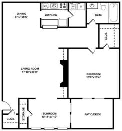 The Filmore Floor Plan at The Berkshires at Vinings, Smyrna, GA, 30080