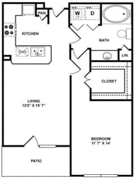 A1 Floor Plan at The Plaza Museum District, Houston, Texas