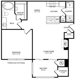 A1 Floor Plan at San Marin, Austin, TX