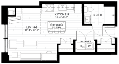 Floor Plan  S3 Floor plan at Custom House, St. Paul, MN 55101
