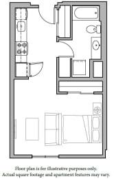 Floor Plan  Floorplan at The Whittaker, Seattle 98116