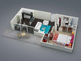Floor Plan One Bed | One Bath