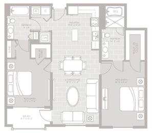 Tide Floor Plan at Berkshire Lauderdale by the Sea, Ft. Lauderdale