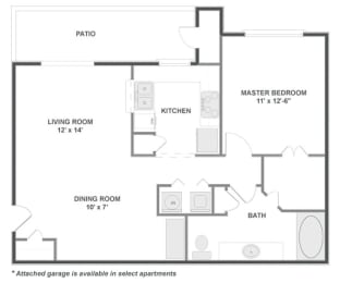 one bedroom apartments in 77054