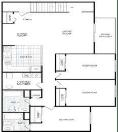 Floor Plan 3 BR/2 Bath