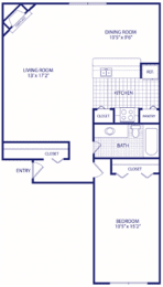 Floor Plan 1 bed 1bath Reno