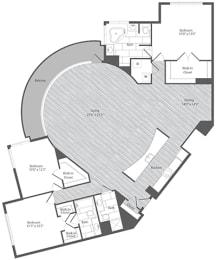 3 bedroom apartments with balcony, Merrifield