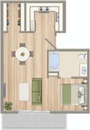 Floor Plan  CA_SantaMonica_1428on6th_p0546774_SingleModA_2_FloorPlan