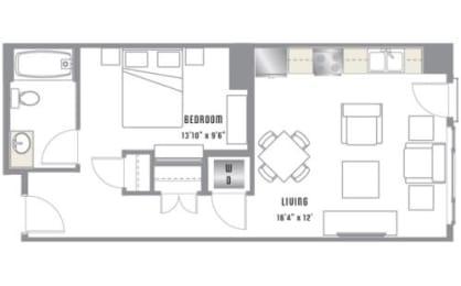 A3 Floor Plan at 2020 Lawrence, Colorado, 80205