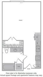 Floor Plan  B Floorplan at 1000 Grand by Windsor