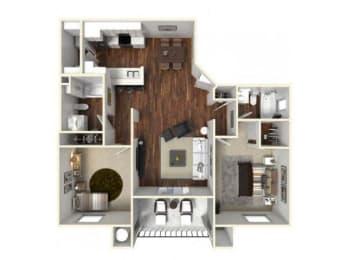 Two bedroom apartments Floor Plan for rent in Rocklin