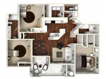 3 bedroom Floor Plan  apartments for rent in Rocklin