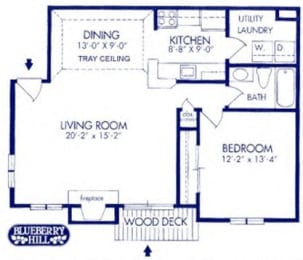 One Bedroom Apartment at Blueberry Hill Apartments, Rochester, NY