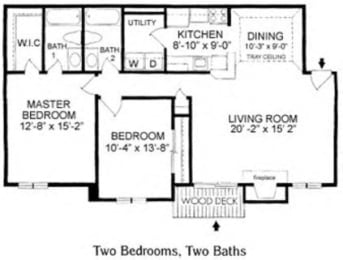 Two Bedroom Apartment at Blueberry Hill Apartments, Rochester, NY