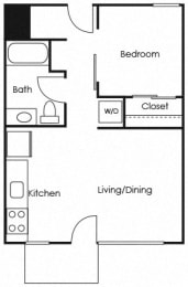 A11 Floor Plan at Lower Burnside Lofts, Portland, 97214