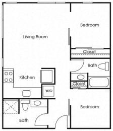 B4 Floor Plan at Lower Burnside Lofts, Oregon, 97214