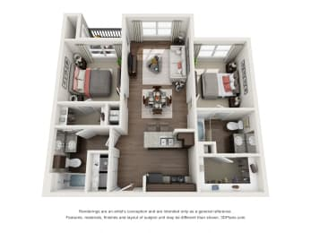 Floor plan at The Terrace at Walnut Creek, Austin, 78724