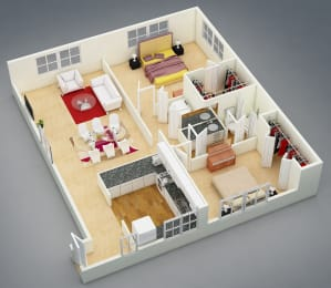 Floor Plan Two Bed | One Bath | A