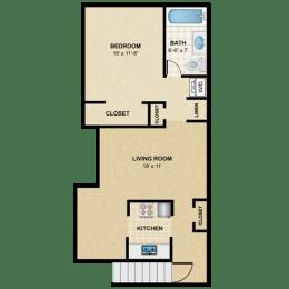 Floor Plan 1 BED