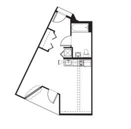 A5.4 Floor Plan at One Santa Fe Residential, Los Angeles, CA