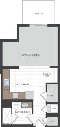 S2 Floor Plan at Berkshire Coral Gables, Miami, FL, 33146