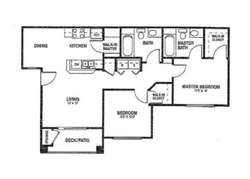 2x2 Floor plans available at Agave Apartments in Elk Grove, CA 95757