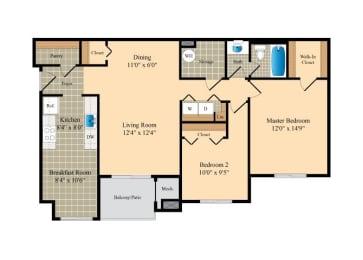 Floor Plan  2x1