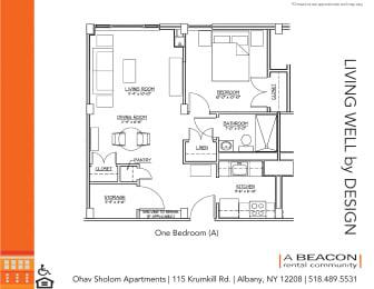 One-bedroom apartment at Ohav Sholom in Albany, NY