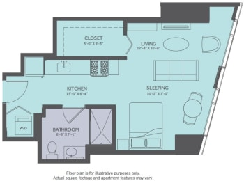 Floor Plan  Floor Plan at Moment, Chicago, IL 60611