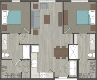 lofts at Monroe   2 Bed-2Bath-948 Sq ft
