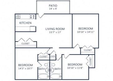 The Skyler Apartment 3 bed 2 bath