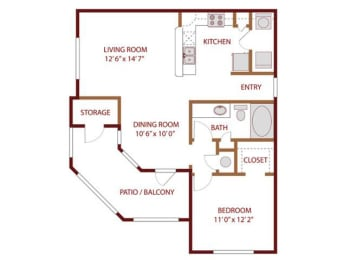 Floor plan at The Greens of Fossil Lake, Fort Worth, 76137