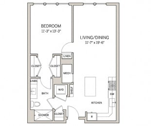 1 Bed 1 Bath A6 at AVE King of Prussia, King of Prussia, PA, 19406