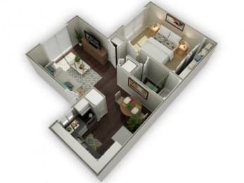 Ironwood Apartments Westover 3D Floor Plan