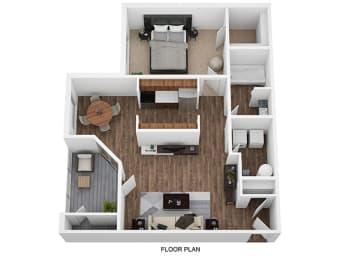 1 Bedroom 1 Bathroom Floor Plan at Shillito Park Apartments, Lexington, KY