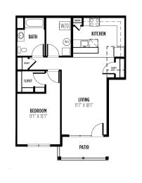 floor plan of a 1 bedroom 1 bath apartment