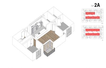 Floor Plan 2 Bed + 2 Bath