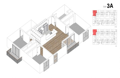 Floor Plan 3 Bed + 2 Bath