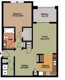 Floor plan at Grand Oak at Town Park, Smyrna, 37167