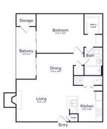 Floor plan at Lakeside Mill, Owings Mill, MD