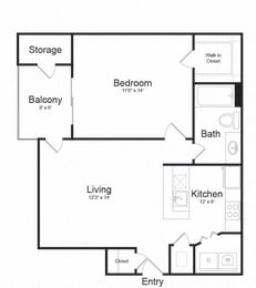 Floor plan at Lakeside Mill, Owings Mill, MD, 21117