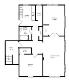 Floor Plan 2 X 1 B