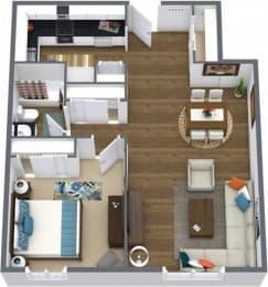 Floor Plan ONE BEDROOM RENOVATED