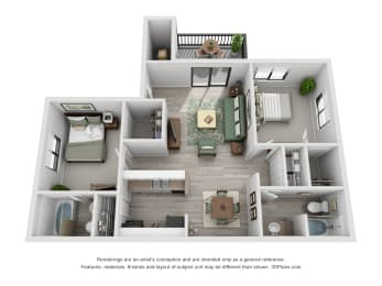 30 West 2 Bedroom Layout