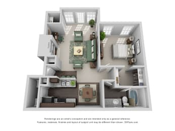 837 sq.ft. One Bed One Bath