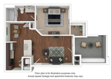 Floor Plan  A1 Floor Plan at Retreat at the Flatirons