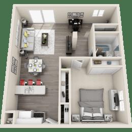 Floor plan at Ocean Breeze Villas, California
