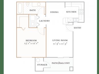 Floor Plan CAPRI - 750 SQUARE FEET