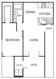 Floor Plan VICTORIA - 604 SQUARE FEET
