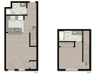 Townhome TH2 FloorPlan at The Corydon, Seattle, WA, 98105